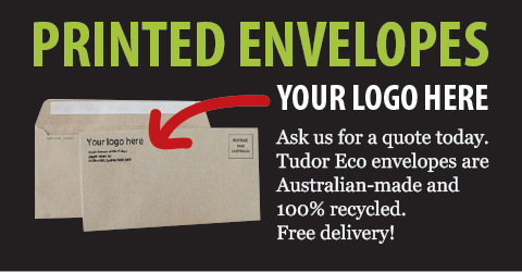 Printed Tudor Eco recycled envelopes free delivery