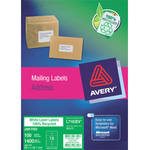 Avery Enviro Laser Labels - A4 - 100% Recycled - Pack of 100