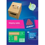 Avery Enviro Laser Labels - A4 - 100% Recycled - Brown - Pack of 20