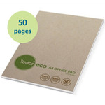 100% Recycled - A4 Lined Pad - 50 page - White